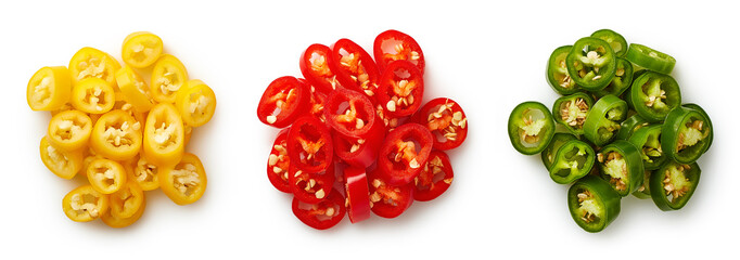 Canvas Prints Hot chili peppers Heaps of colorful chopped chili peppers