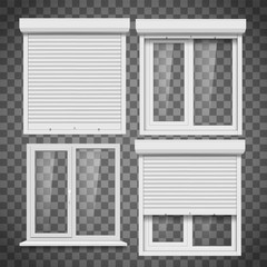Set of pvc windows