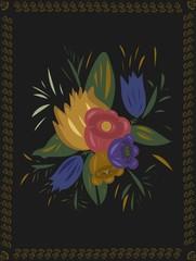 Zhostovo flower