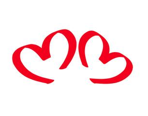 Two symbolic hearts.
