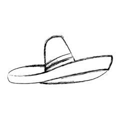 Mexican hat isolated icon vector illustration graphic design