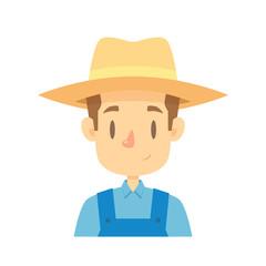 Farmer icon cartoon vector