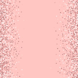 Pink Gold Glitter Messy Border With On Background Unique Vector
