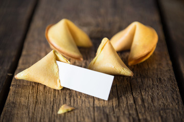 Fortune cookie. Cookies with predictions