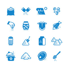 Salt silhouette vector icons set
