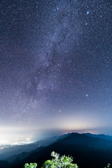 Milky way galaxy in the nature