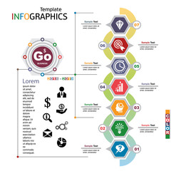 infographics business template elements