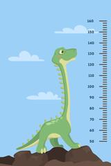 Dinosaur height chart.