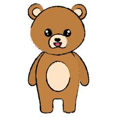 In de dag Beren cute and tender bear character