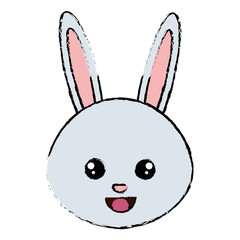 cute and tender rabbit head character