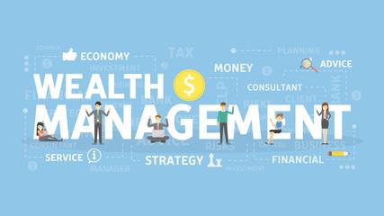 Wealth management concept.
