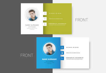 Colored Sidebar Business Card Layout