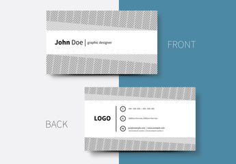 Crosshatched Lines Business Card Layout