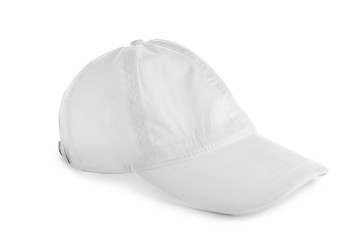 Cap on white background. Mockup for design
