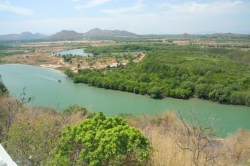 Over View of Pranburi River