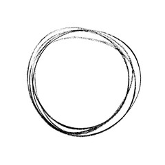 Hand drawn ring in expressive brush drawing style