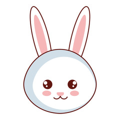 cute and tender rabbit head character vector illustration design