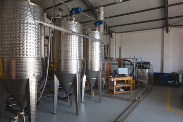 Distillery in gin factory