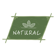 Natural logo with leaves