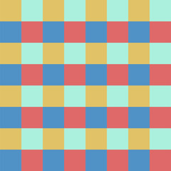 Abstract seamless pattern with squares. Geometric vector illustration. Bright color.