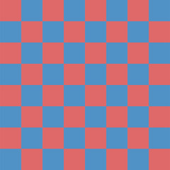 Abstract seamless pattern with squares. Geometric vector illustration. Red, blue colors.