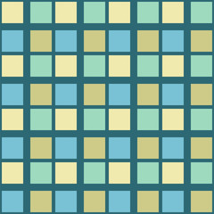 Abstract seamless pattern with squares. Geometric vector illustration. Light pastel color.