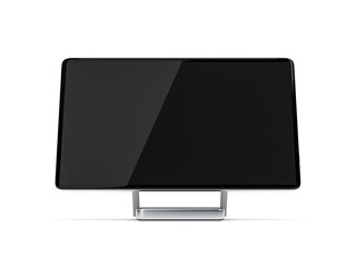 All in One Desktop Computer with black screen mockup