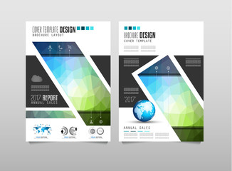 Brochure template, Flyer Design or Depliant Cover for business purposes.