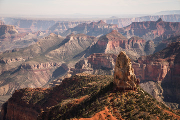 Landscape view of Mount Hayden at the Grand Canyon in Arizona.