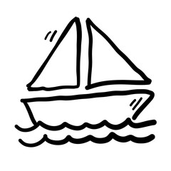 Sailboat Doodle Vector
