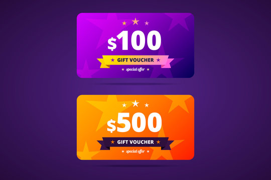 Gift voucher template in two color variants.