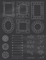 Chalkboard Doodle Frames and Elements