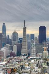 Vertical of San Francisco, California city center