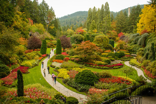Butchart botanical garden in Victoria town in Vancouver Island, Canada