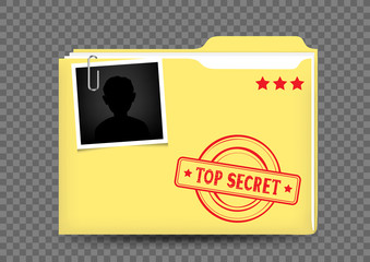 top secret folder on transparent