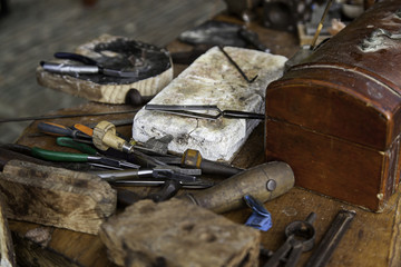 Traditional tools for leather