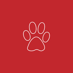 paw vector line icon