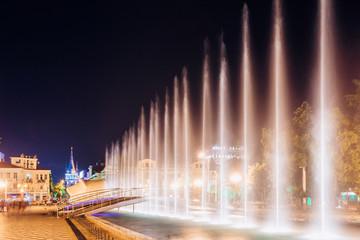 Batumi, Adjara, Georgia. Singing And Dancing Fountains Is Local Landmark