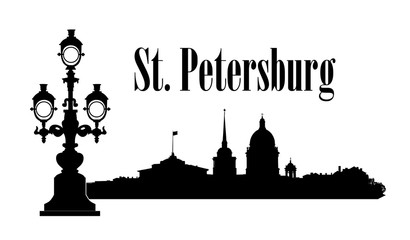 Saint-Petersburg city, Russia. St. Isaac's cathedral skyline. Russian travel background.