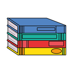 pile of books design