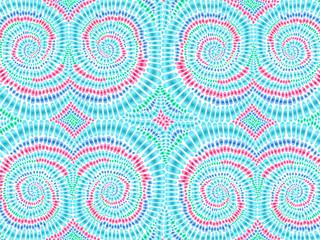 Boho tie dye background watercolor effect vector rainbow colors 1