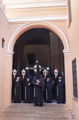 "Penitents of the brotherhood of ""Santa Marta"""