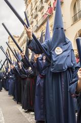 "Penitents of the brotherhood of ""El Baratillo"""
