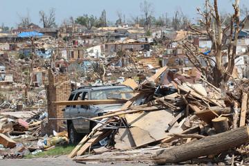 EF-5 Tornado Storm Total Distruction Destroyed Landscape