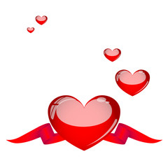 Karte Valentinstag Herz Liebe Vektor