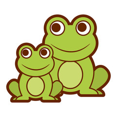 frogs cute animal sitting cartoon