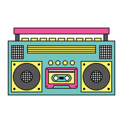 retro stereo cassette player music recorder