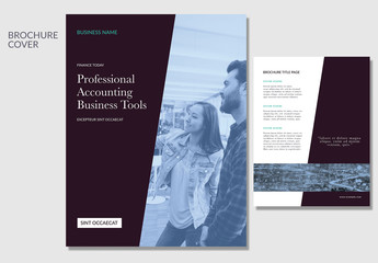 Business Brochure with Diagonal Elements 1