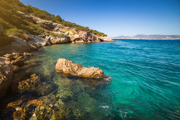 Turkey. Bodrum. Landscape from the sea