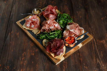 Assorted Deli Cold Meats on a plate.